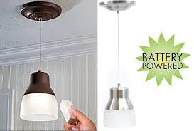 image of wireless hanging pendant lights battery operated lighting home lighting