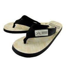 """Riviera"" - Premium Rubber Flip Flops with Fabric <b>Straps</b>"