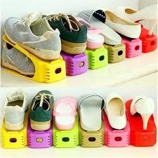Blue 2 Sets <b>Creative Shoe Rack</b> Saves Space <b>Shoe</b>-<b>Organizer</b> ...