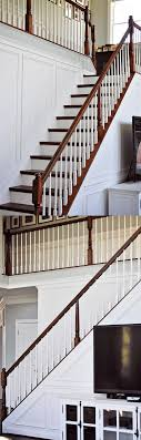 beginner tips and tricks for installing trim use shadow box wainscoting to add interest to those tricky angled stair walls this is