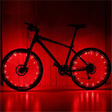 Waterproof <b>Colorful</b> 20 LED <b>Bicycle Lights Bike Lamp</b> Cycling Wheel ...