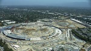 apple campus helicopter june 2015 apple new office