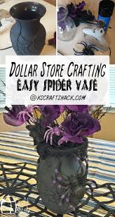 dollar store crafting spider halloween vase charming pernk dining room