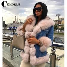 <b>CKMORLS</b> 2018 <b>New</b> Arrival <b>Real</b> Fox Fur Coats For Women Winter ...