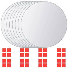 vidaXL <b>8 pcs Mirror Titles</b> Round Glass(SKU:244463)Free Delivery