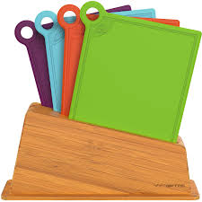 important kitchen accessories vremi cutting board set in holder  plastic poly cutting boards dishwas