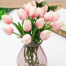 <b>1PCS PU</b> Tulips Artificial Flowers Real touch artificiales para decora ...