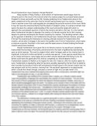 frankenstein essay frankenstein essay at com