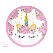 Pink <b>Unicorn Party Disposable</b> Tableware Children's Birthday Party ...