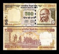 INDIA 500 <b>New</b> Rupee SYMBOL X <b>3 Pcs Lot</b> GANDHI DANDI ...