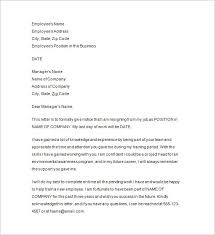 resignation notice samples examples format resignation letter one month notice sample resignation letters com