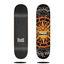 """Cruzade <b>Skull</b> Sun 8.0"""" deck - <b>Skateboard</b> Decks - CRUZADE <b>SKATE</b>"""