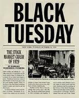 「1929年 - ウォール街大暴落: 悲劇の火曜日」の画像検索結果