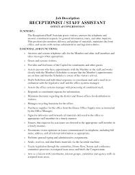 receptionist job description for resume resume badak hotel receptionist job description resume