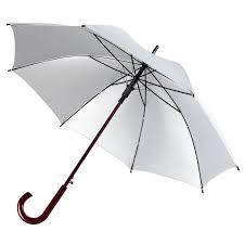 <b>Зонт</b>-трость <b>Unit Standard</b>, серебристый (артикул 111393.01)