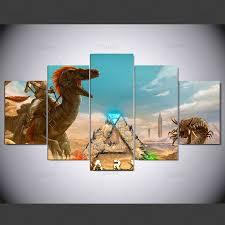 <b>YSDAFEN 5 panel Modern</b> ark scorched earth death worm Art print ...