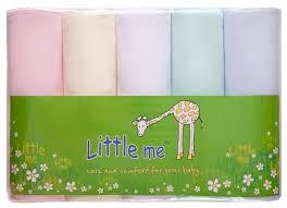 Многоразовые <b>пеленки Little Me</b> тонкий трикотаж 90х120 набор ...
