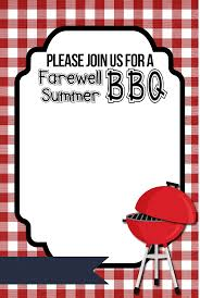 bbq invitation templates invitations ideas farewell summer printable bbq invitations