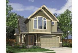 Eplans Cape Cod House Plan   Two Story Narrow Lot Home      Front