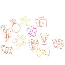 <b>5pcs</b>/lot kawaii <b>cartoon</b> mini bookmark paper metal <b>clip</b> for notebook ...