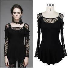 Lace Long Sleeve <b>Punk</b> Tops & Shirts for <b>Women</b> for sale | eBay