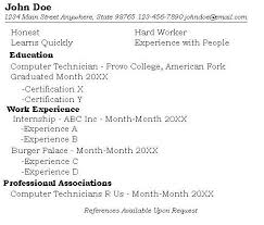 resume examples  one job resume examples cover letter examples    one job resume examples   work experience as internship