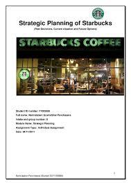 strategic planning of starbucks