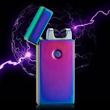 2019 2017 <b>New Double Fire Cross</b> Lighter Twin Arc Pulse Electronic ...