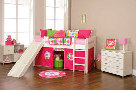 l cute pink and white bunk bed ideas for kid girls bedroom with slides playground plus erect stairs also spacious brown mahogany hardwood flooring bedroom bedroom beautiful furniture cute pink