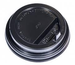 Крышка для <b>стакана 400мл</b> и 300мл D 90мм <b>пластик</b> черный с ...