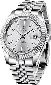 Bersigar Men's <b>Waterproof</b> Stainless Steel <b>Automatic Mechanical</b> ...