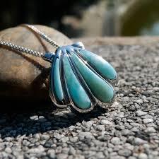 <b>DJ CH</b> Ocean Life <b>Jewelry</b> Sea Shell Larimar Charm Pendant, Sky ...