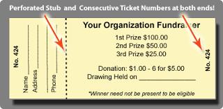 Raffle Tickets for Sale - Custom Raffle Ticket Printing