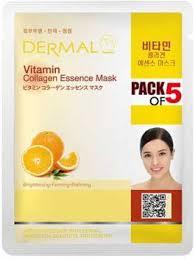 dermal Vitamin <b>Collagen Essence Face</b> Mask (Pack of 5) - Price in ...