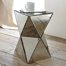 view in gallery mirrored side table art deco mirrored furniture