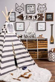 metal wall decor shop hobby: give your little explorer the perfect place to play with a woodland themed playroom