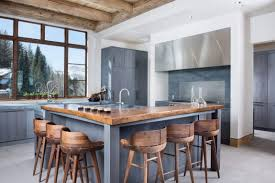 images kitchen island examples  vail ski haus wood chairs kitchen island