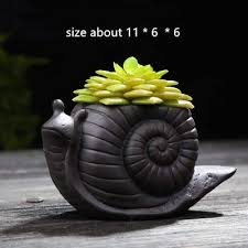 Amazon.com : <b>Snail Planter</b> - Best Quality - Clay Molds - Animal ...