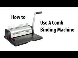 How to Comb Bind - YouTube