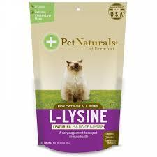 Pet Naturals of Vermont, <b>L</b>-<b>лизин для котов, со</b> вкусом куриной ...