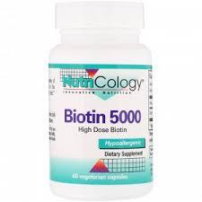 Nutricology, <b>Биотин 5000</b>, <b>60 вегетарианских</b> капсул ...
