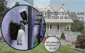 <b>Double head solar</b> Power LED wall light Garden path Garage ...
