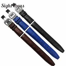 <b>20mm 22mm Matte</b> Calf Skin Leather Strap for IWC Chronograph ...