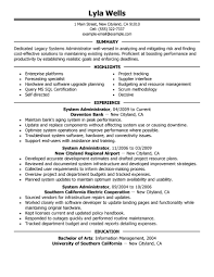 system administrator sample resume sample resume 2017 systems administrator