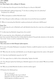 macbeth study questions pdf 4 given banquo s earlier soliloquy to what extent do you feel his fears are