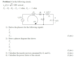 Draw Phasor Diagram Online Derive Phasors And Power Factor Draw Phasor Diagram