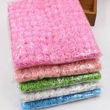 <b>72 Pcs/lot PE Rose</b> Flowers Lace Foam Flower Bouquet Solid Color ...
