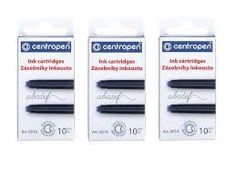 <b>Картриджи</b> чернильные CENTROPEN, 3 упаковки по 10 ...
