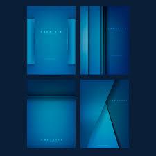 <b>Набор креативных</b> фоновых рисунков в темно-синем Вектор ...