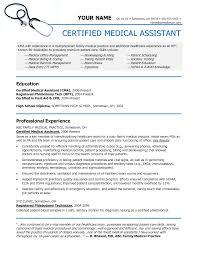 professional medical assistant resume samples cipanewsletter medical assistant resume sample getessay biz